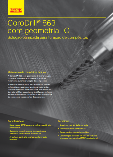 CoroDrill 863 com geometria – O