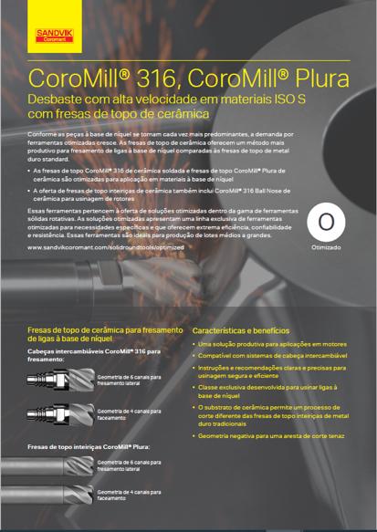 CoroMill® 316, CoroMill Plura