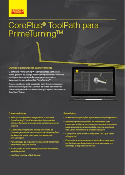 CoroPlus ToolPath para PrimeTurning
