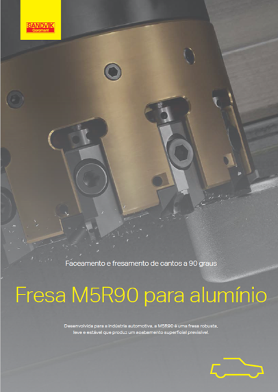 Fresa M5R90 para alumínio