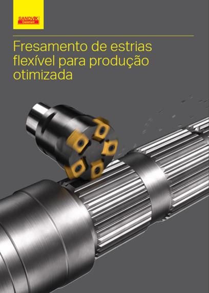 Fresamento de estrias flexivel para produção otimizada