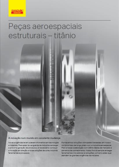 Peças aeroespaciais estruturais – titânio