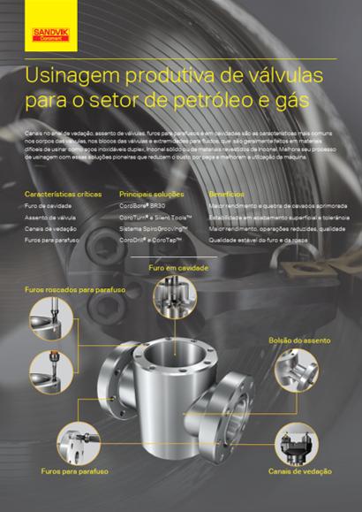 Usinagem produtiva de válvulas para o setor de petróleo e gás